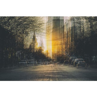 'Twilight in the City' Painting Print on Wrapped Canvas
