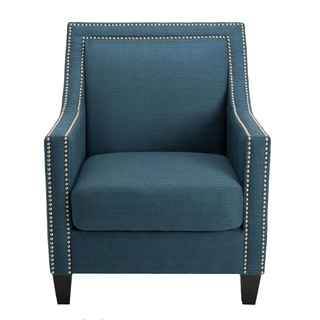 HomePop Edwin Blue Arm Chair