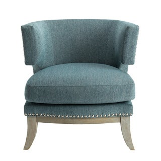 HomePop Aubrey Transitional Blue Accent Chair