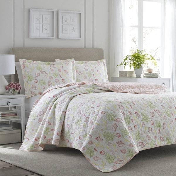 Laura Ashley Harmony Coast Rose 3-piece Quilt Set