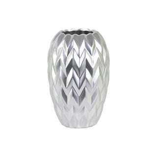 Urban Trends Collection Silver Ceramic Large Round Vase