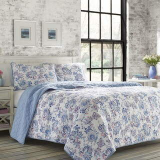 Poppy & Fritz Paige Reversible Paisley Print Cotton 3-Piece Quilt Set