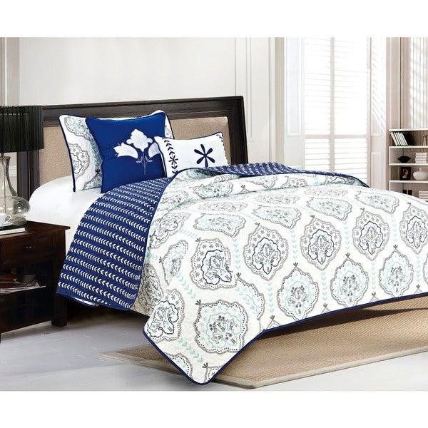 Home Fashion Designs Cassidy Collection 5-Piece Printed Quilt Set