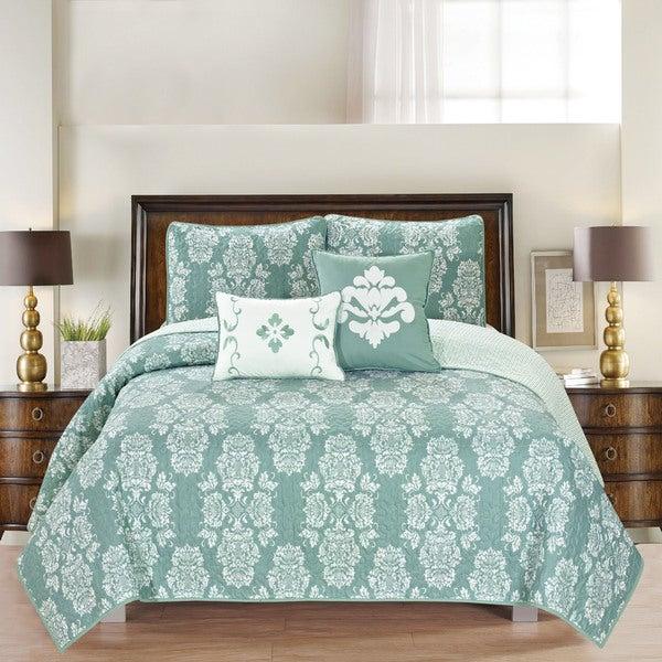 Home Fashion Designs Josie Collection 5-Piece Printed Quilt Set