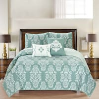 Home Fashion Designs Josie Collection 5-Piece Printed Quilt Set