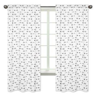 Sweet Jojo Designs Arrow Print 84-inch Window Curtain Panel Pair