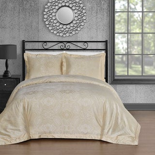Comfy Bedding Beige Cotton Blend 450 Thread Count 3-piece Duvet Cover Set