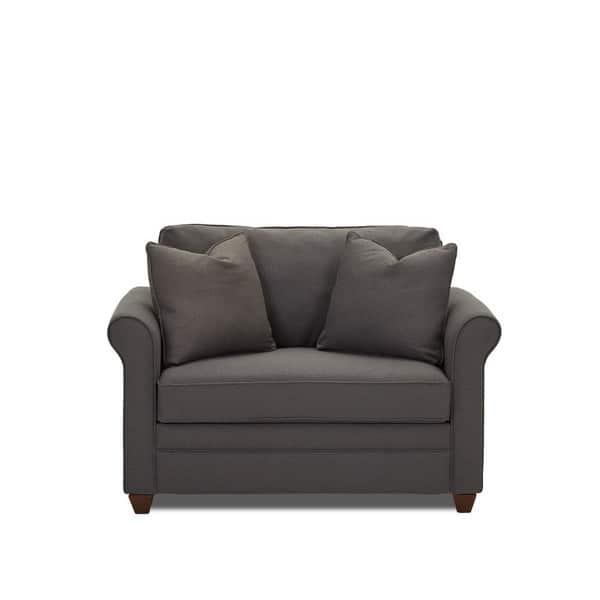 Enjoyable Dopler Contemporary Grey Innerspring Chair Sleeper Short Links Chair Design For Home Short Linksinfo