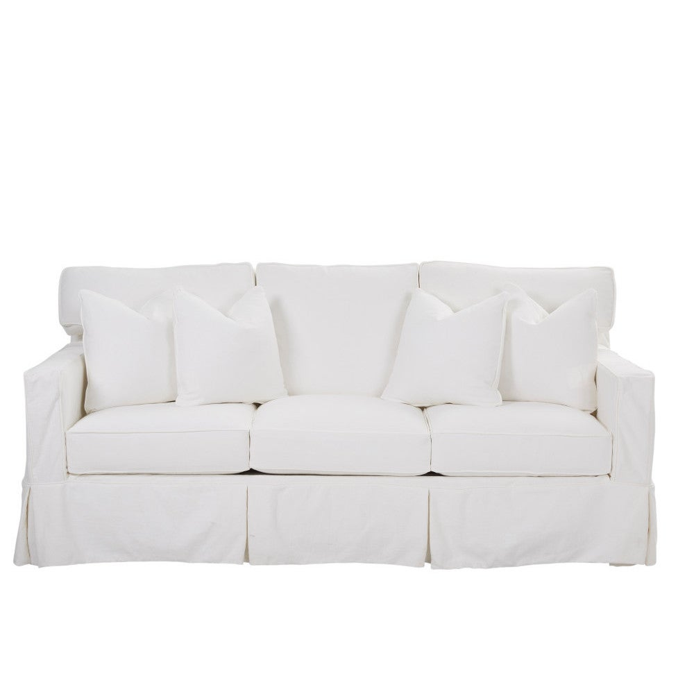 Jeffrey Contemporary White Extra Large Dreamquest Queen Sleeper Sofa