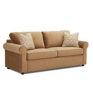 Brighton Contemporary Tan Innerspring Queen Sleeper Sofa