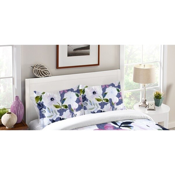 Laural Home Denim Floral Dreams Standard Pillow Sham