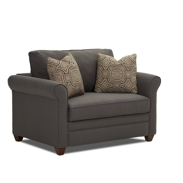 shop dopler contemporary grey innerspring chair sleeper on sale free shipping today. Black Bedroom Furniture Sets. Home Design Ideas