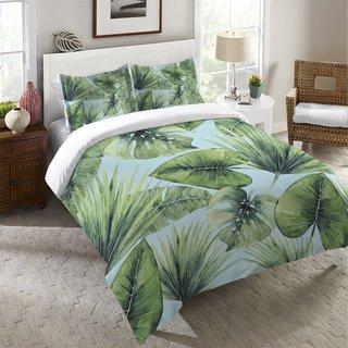 Laural Home Green Palm Leaves Standard Pillow Sham