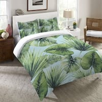 Laural Home Green Palm Leaves Standard Pillow Sham
