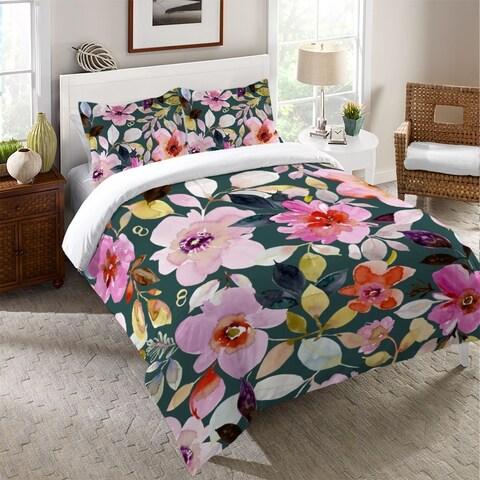 Laural Home Pink Floral Dreams Duvet Cover