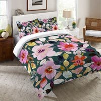Laural Home Pink Floral Dreams Duvet Cover