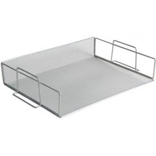 Stackable Silver Mesh Steel Paper Tray