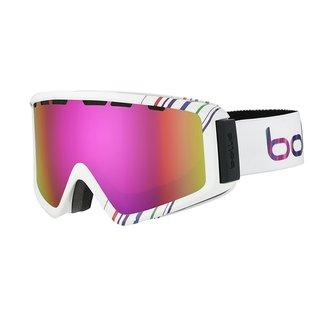 Bolle 21497 Z5 OTG Unisex (Shiny White & Pink Frame/Rose Gold Lens) Snow Goggles