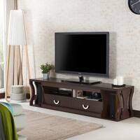 Furniture Of America Loxie Modern Espresso Slatted Tv