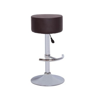 Vogue Furniture Direct Backless Brown Leather Adjustable Stool with Footrest (2 options available)