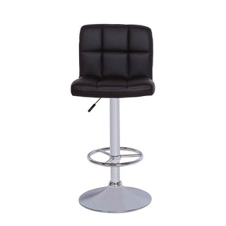 Vogue Furniture Black Quilted Vinyl Barstool