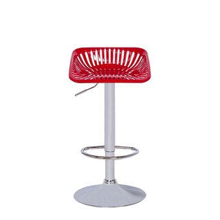 Vogue Furniture Adjustable Square Tractor Seat Barstool with Footrest