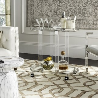 Safavieh Couture High Line Collection Lennon Acrylic Silver Bar Trolley
