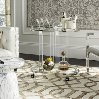 Link to Safavieh Couture High Line Collection Lennon Acrylic Silver Bar Trolley Similar Items in Home Bars