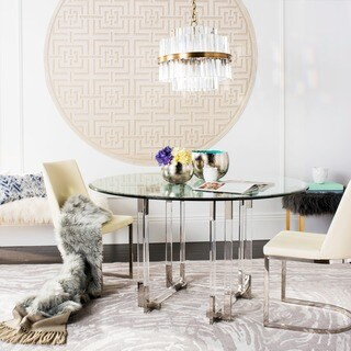 Safavieh Couture High Line Collection Koryn Acrylic Silver Dining Table