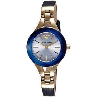 Emporio Armani Women's AR7393 'Classic' Blue Leather Watch