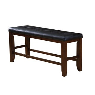 High Quality Acme Furniture Urbana Black And Cherry Counter Height Dining Bench