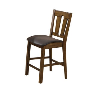 Acme Furniture Morrison Brown and Oak Counter-height Chair (Set of 2)