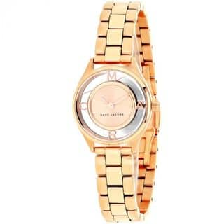 Marc Jacobs Women's MJ3417 'Tether' Rose-Tone Stainless Steel Watch https://ak1.ostkcdn.com/images/products/14634306/P21174519.jpg?impolicy=medium