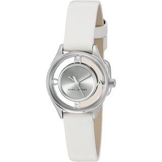 Marc Jacobs Women's MJ1460 'Tether' White Leather Watch