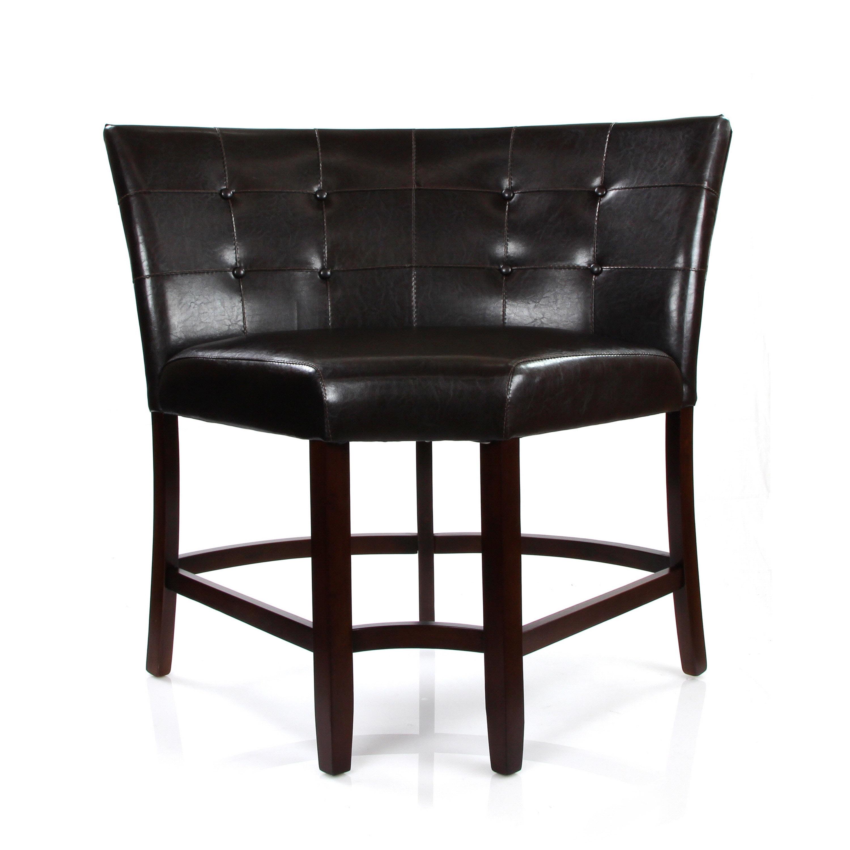 ACME Furniture Bravo Espresso Upholstered PU Leather Coun...