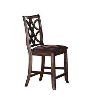 Acme Furniture Keenan Walnut Brown MFB Counter Height Chair (Set of 2)