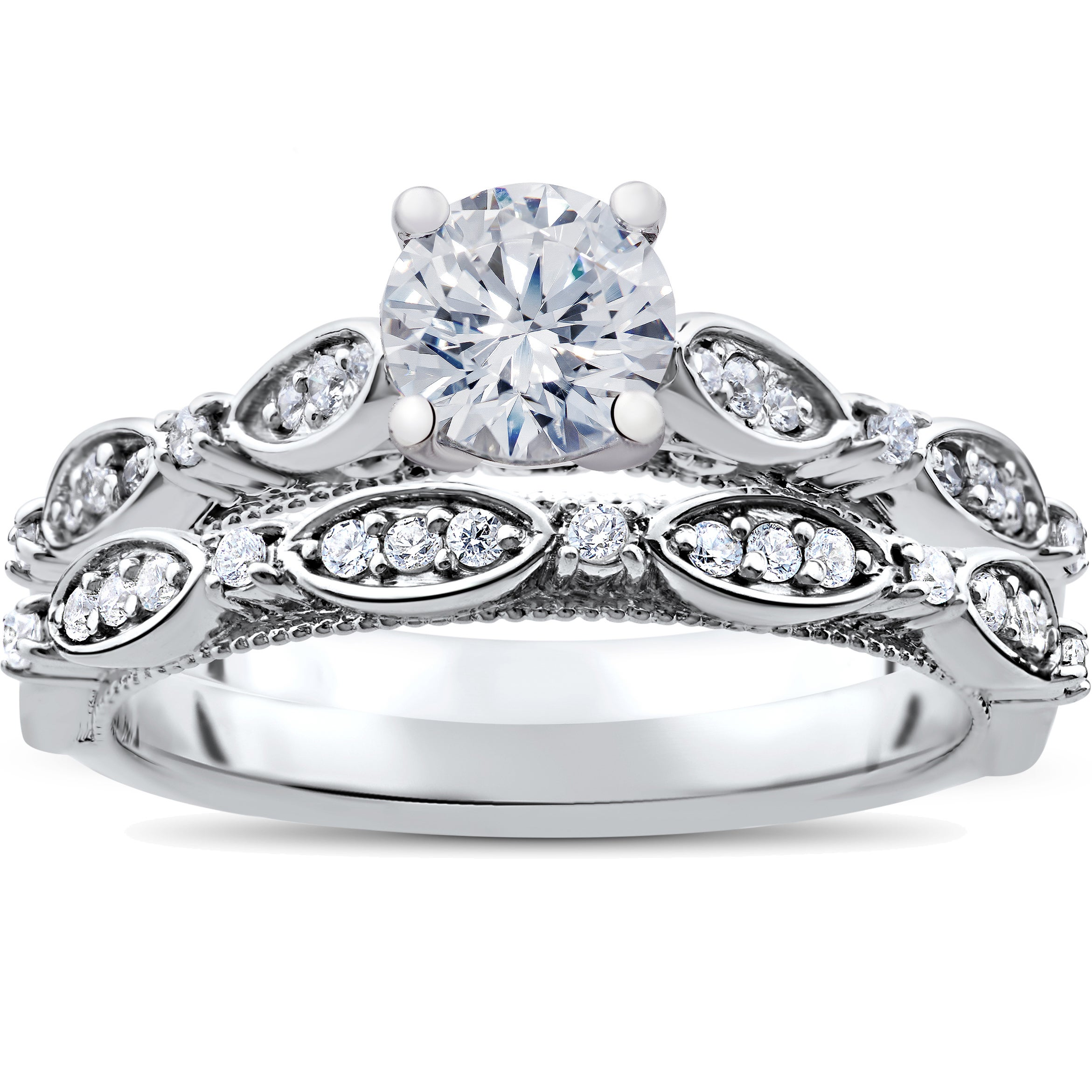 Ct Tdw Vintage Diamond Engagement