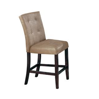 Acme Furniture Danville Walnut/Cream PU Counter-height Chairs (Set of 2)