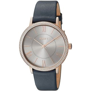 DKNY Women's NY2546 'Willoughby' Crystal Blue Leather Watch
