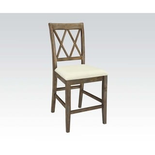 Acme Furniture Claudia Beige Counter Height Chair (Set of 2)