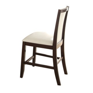 Acme Furniture Eastfall White and Espresso Counter-height Chair (Set of 2)