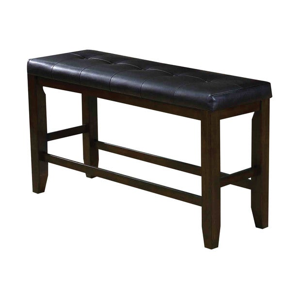 Great Acme Furniture Urbana Espresso/Black PU Counter Height Dining Bench