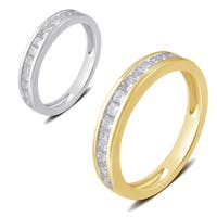 Divina 10k White or Yellow Gold 1/2ct TDW Princess Diamond Wedding Band