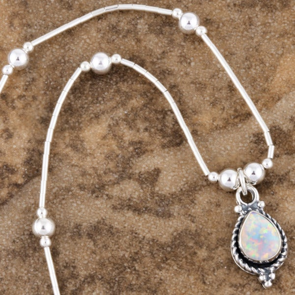 Handmade White Opal Pendant (India)