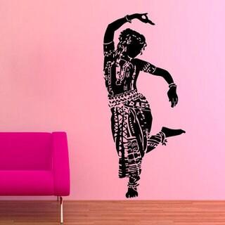 Belly Dance Girl Dancer Gym Dance Studio Vinyl Sticker Home Interior Art Mural Wall Decor Sticker De
