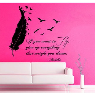 Quote if You Want to Fly Give up Everything Vinyl Sticker Living Room Interior Design Decor Sticker