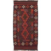 ecarpetgallery Hand-woven Qashqai Red Wool Kilim Rug (3'3 x 6'7)