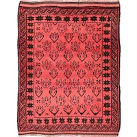 ecarpetgallery Hand-knotted Color Transition Red Wool Rug (3'8 x 4'8)