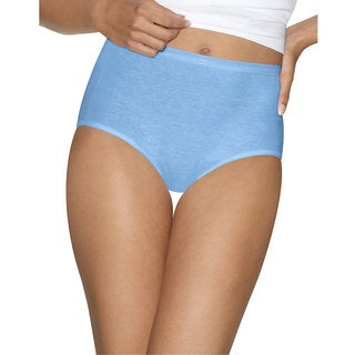 Hanes Women's Ultimate Comfort Cotton Brief Panties (Pack of 5)