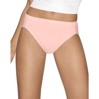 Hanes Ultimate Comfort Cotton Hi-cut Panties (Pack of 5)